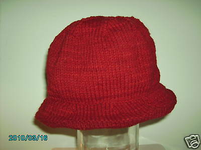 1700's Brimmed Hat 100% WOOL HAND KNIT to your size