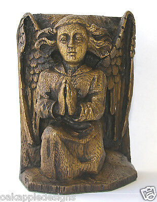 Angel Praying Ornament Reproduction Medieval Carving Hymne Prayer Cherub Gift