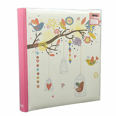 Vintage Birds Case 5 x 7 Large Slip In Memo Photo Album For 200 Holds  LB57