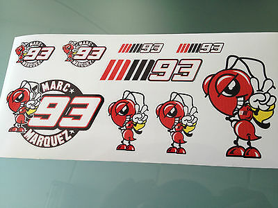 Marc Marquez Stickers - Decal Sticker kit (DL Size sheet)