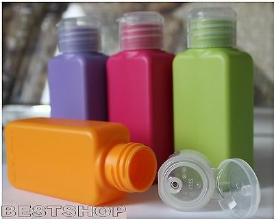 NEW IKEA UPPTACKA 4 TRAVEL COLORED 3.4oz TSA APPRROVED BOTTLES FREE SHIPPING