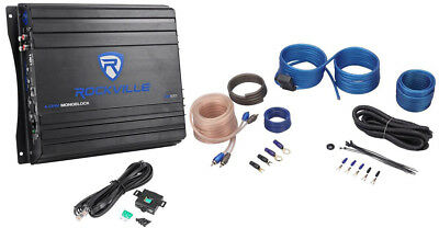 Rockville RVA600.1 1200w Peak 4Ohm Stable Mono Amplifier + Amp Kit