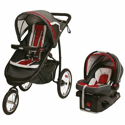 BRAND NEW! Graco FastAction Fold Jogger Click Connect Travel System (Chili Red)