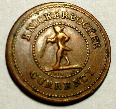Knickerbocker Currency - Good For One Cent R-1 Civil War Token 255/393
