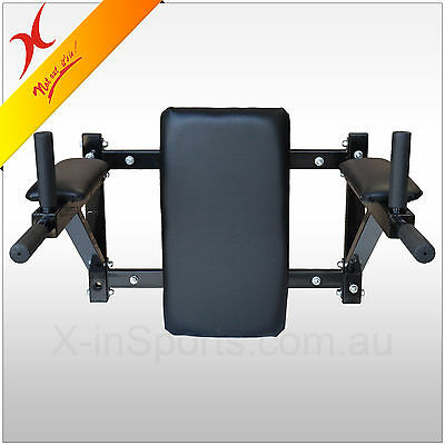 Wall Mounted Dipping / Ab Knee Raise / Chin Up Station -Heavy Duty Home Gym Rack