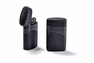 Accendino Turbo Lighter Jet Flame For Cigars Antivento Atomic Gas Ricaricabile