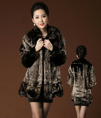 Womens Luxury Mid Long Winter Faux Fur Coats Jacket parkas Outwears Fashion 2015