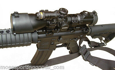 UTG RIFLE SCOPE Red Laser Combo 3-12X44 Compact NEW with Pressure Switch QD