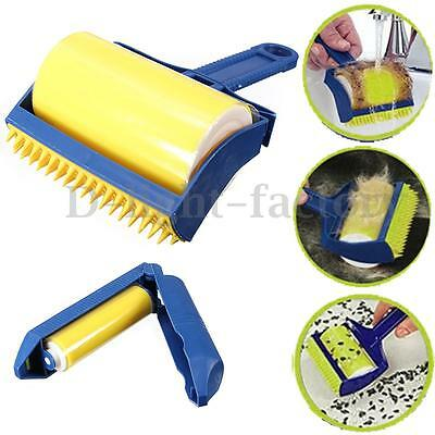 3in1 Sticky Buddy Set Cleaner Reusable Roller Picker Washable Brush Hair Remover