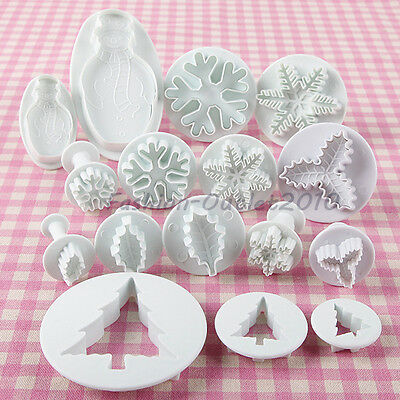 New Year Icing Fondant Sugarcraft Cake Decorating Sugarcraft Plunger Cutter Tool