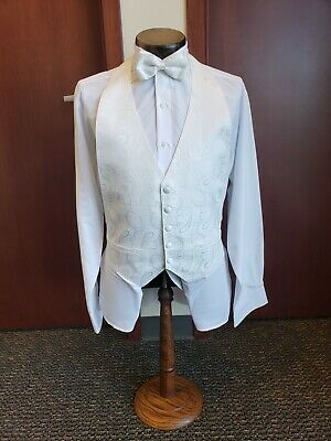 White Formal Vest - Paisley print - Excelent used condition - REN
