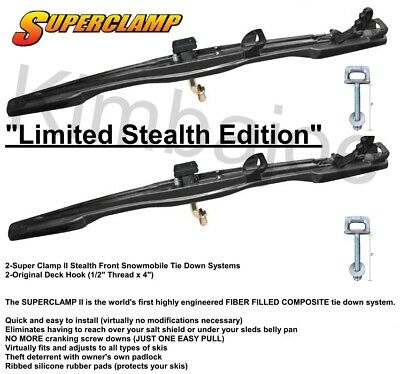 TWO (2) Super Clamp II Front Snowmobile Trailer Tie Down Systems