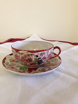 Hand Painted Cup & Saucer Japan