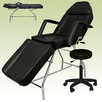 Brand New Adjustable Medical Dental Chair And Portable Stool Combination Black