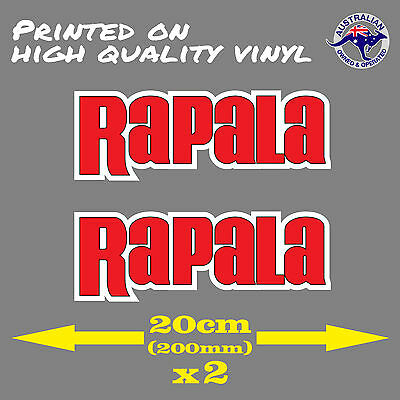 Rapala Sticker 2 for 1 20cm (200mm) FISHING STICKER, LOOKS GREAT ON A BOAT