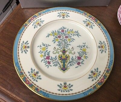 """Lenox Blue Tree 10-5/8"""" Dinner Plate Gold Backstamp Made in USA"""