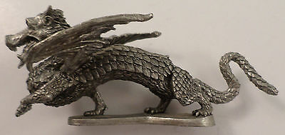 Partha Pewter Proud Dragon Statue Figurine  Pp 67 Signed Stamped