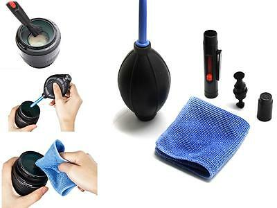 BUCA 3 in 1 Lens Cleaning Cleaner Dust Pen Blower Cloth Kit For DSLR VCR Camera