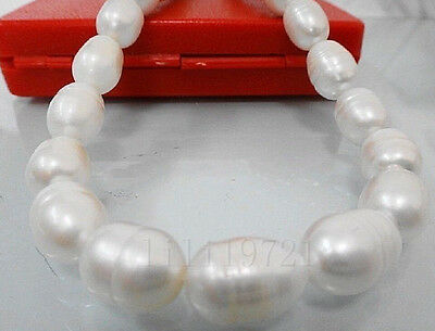 """10-12mm white Freshwater PEARL loose beads 15"""""""