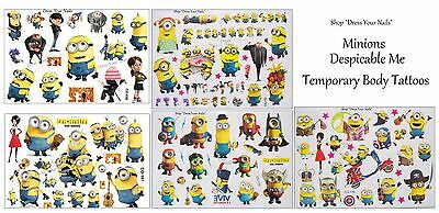 Despicable Me - Minions, Temporary Body Tattoo - Cartoon Children