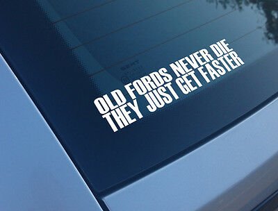 Koolart IT/'S NOT OLD Slogan /& Mk1 Ford Escort RS Mexico Pic Vinyl Car Sticker