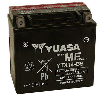 Genuine Yuasa YTX14-BS Motorbike Motorcycle Battery
