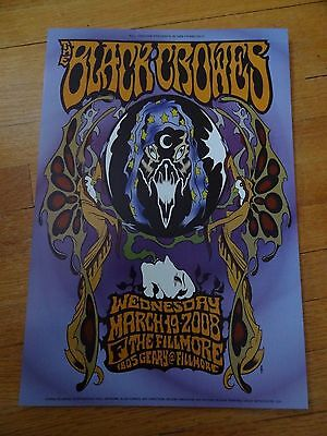 the Black Crowes concert poster fillmore bill graham 13x19 2008