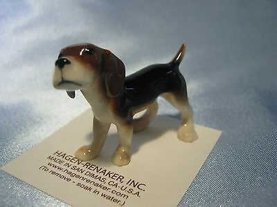 Hagen Renaker Dog Beagle  Figurine Miniature 00432 FREE SHIPPING New