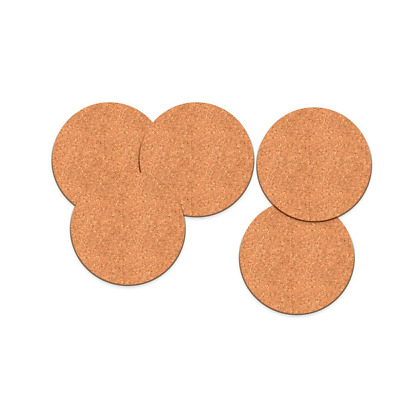 Coasters Drink Cup Mat Coffee Cork Round Placemats Plain Tea Wine Tablemat UK