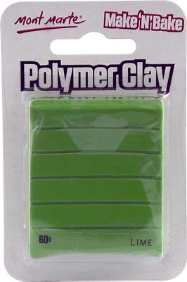 Mont Marte Make N Bake Polymer Clay 60g - Lime