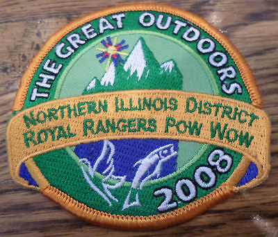 Royal Ranger Uniform Patch The Great Outdoors 208 Northern Illinois Dist Pow Wow