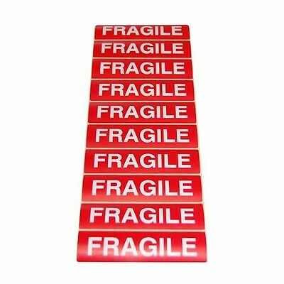 Lot 50 Etiquettes Adhesives Fragile Expedition Colis