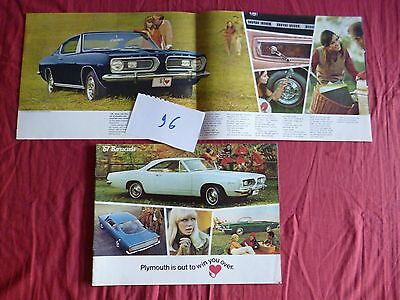 96  / PLYMOUTH  catalogue Barracuda   11/66