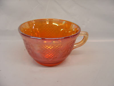 Carnival Glass ? - gorgeous Marigold punch cup