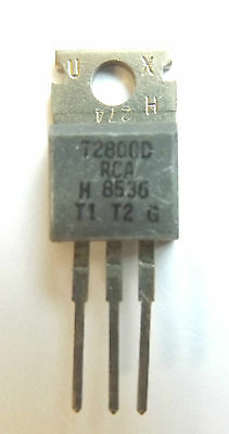 T2800D High voltage, 8A silicon triac. Vdrom 400 V. in 3-pin TO-220AB