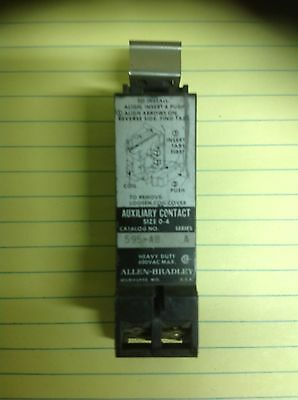 Allen Bradley 595-Ab Series A Auxiliary  Contact Size 0-4