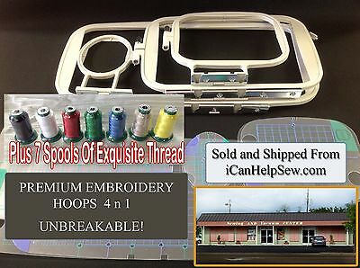 Brother Embroidery Hoop Replacement +Thread PE 770 780-D PE 750-D PE 700 SB7900E