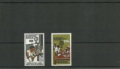 Nigeria Sg400-401 50Th Anniv Of International Bureau Of Education Mnh