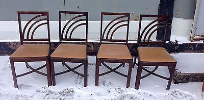 Set Of 4 French Deco High Style Chairs 1940's Shipping Ok