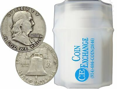 SALE FULL DATES Roll of 20 $10 Face Value 90% Silver Franklin Half Dollars