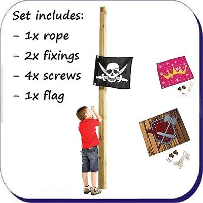FLAG with COMPLETE HOISTING SYSTEM Kids Climbing Frame 450 x 540mm FREE P&P!