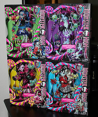 MONSTER HIGH EXCLUSIVE SWEET SCREAMS DRACULAURA FRANKIE ABBEY & GHOULIA