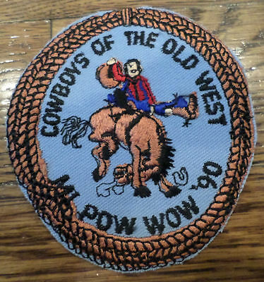 Cowboys Of The Old West1990 Mi Pow Wow Royal Rangers Rr Uniform Patch