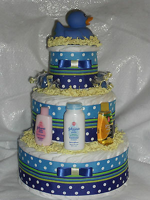 Blue and Yellow Duck Diapercake