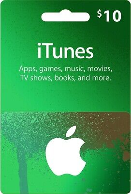 $10 Apple US iTunes Card Gift Card 10 Dollar voucher certificate -FAST DISPATCH