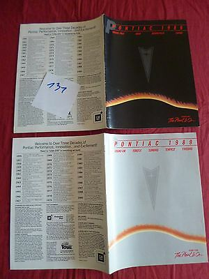 131 /  PONTIAC : 2 catalogue english text gamme 1989 canada