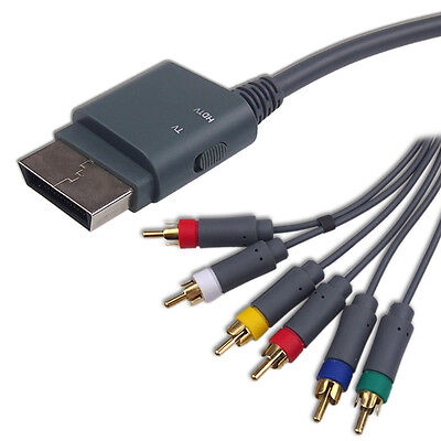 Brand New HD TV Component Composite Audio Video AV Cable for Xbox 360 Slim