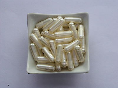 100 Empty WHITE PEARL  Gelatine  capsules   size 1