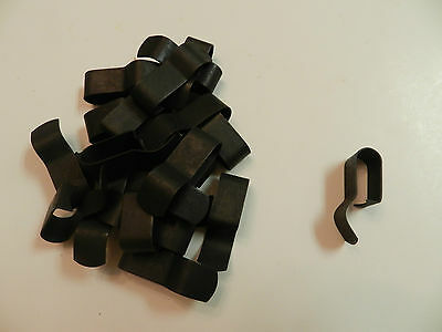 "Trailer Wire Frame Clips 3/8"" - PACK OF (20) Steel, black enamel finish"