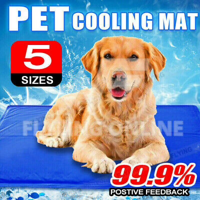 Pet Dog Cat Bed Non-Toxic Cooling Cool Water Cooling Gel Mat Summer Pad
